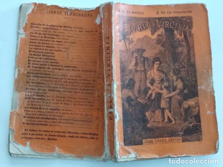 Libros antiguos: PABLO Y VIRGINIA - JACOBO BERNARDINO ENRIQUE - JESÚS GRACIA EDITOR - MADRID 1878 - Foto 2 - 122103799