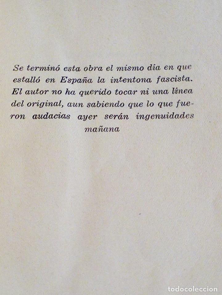 Libros antiguos: DON AMOR VOLVIÓ A TOLEDO. URABAYEN, FÉLIX. ESPASA-CALPE. 1 ª ED.1936 INTONSO. - Foto 4 - 122492403