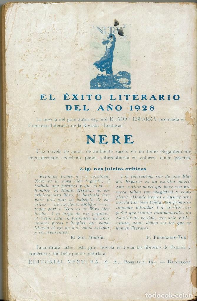 Libros antiguos: NO TENÍA CORAZÓN, POR CARMEN G. MAURIÑO. AÑO 1928. (10.4) - Foto 2 - 124162551