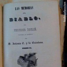 Libros antiguos: LAS MEMORIAS DEL DIABLO, F. SOULIÉ, 1849. Lote 125426899