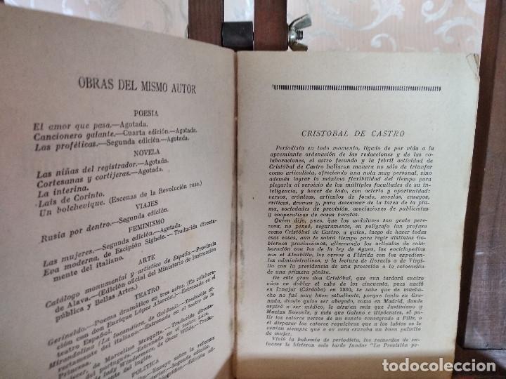 Libros antiguos: 1926, La Inglesa y el Trapense, Cristobal de Castro, La Novela Mundial, Madrid - Foto 4 - 132939446