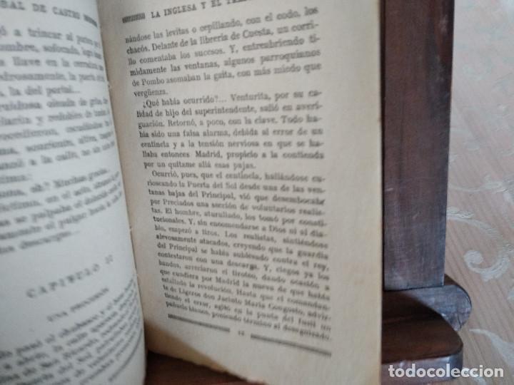Libros antiguos: 1926, La Inglesa y el Trapense, Cristobal de Castro, La Novela Mundial, Madrid - Foto 7 - 132939446
