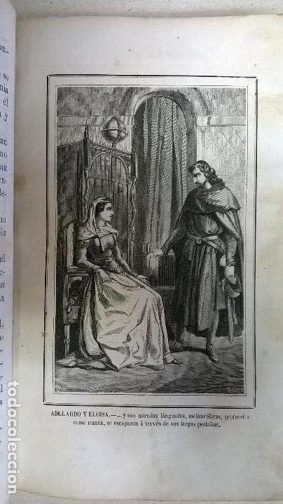 Libros antiguos: Libro.Abelardo y Eloisa. Año 1867. Medida 15 x 22 cm.624 pg - Foto 10 - 126308883