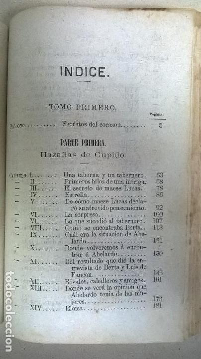 Libros antiguos: Libro.Abelardo y Eloisa. Año 1867. Medida 15 x 22 cm.624 pg - Foto 12 - 126308883
