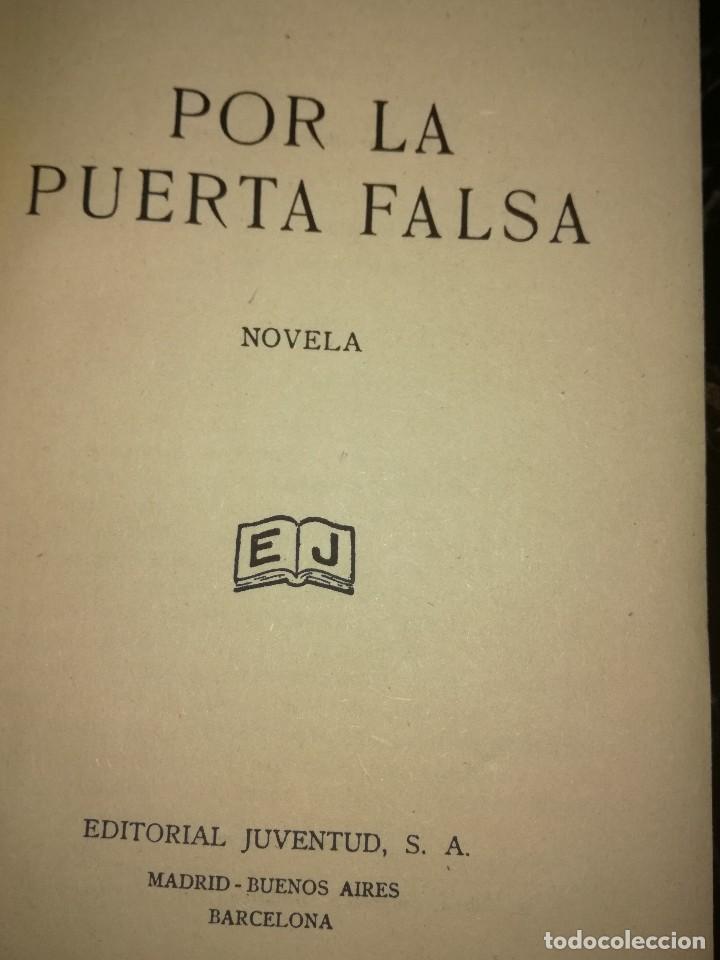 Libros antiguos: Por la puerta falsa,por Rafael Pérez y Pérez - Foto 2 - 126395999