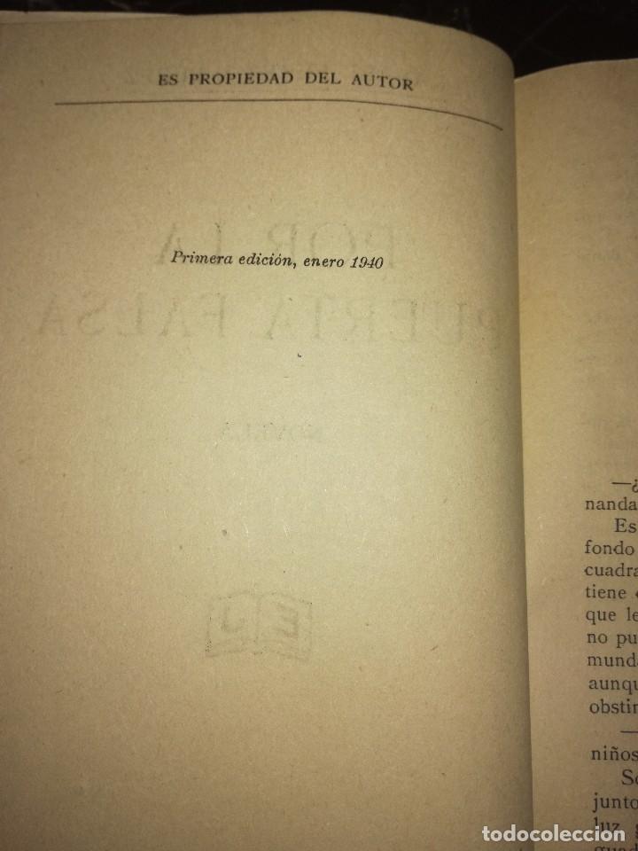 Libros antiguos: Por la puerta falsa,por Rafael Pérez y Pérez - Foto 3 - 126395999