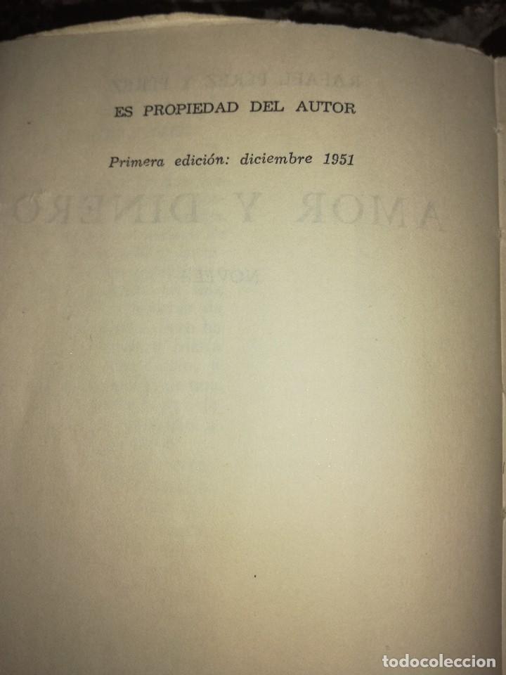 Libros antiguos: Amor y dinero,por Rafael Pérez y Pérez - Foto 3 - 126397535