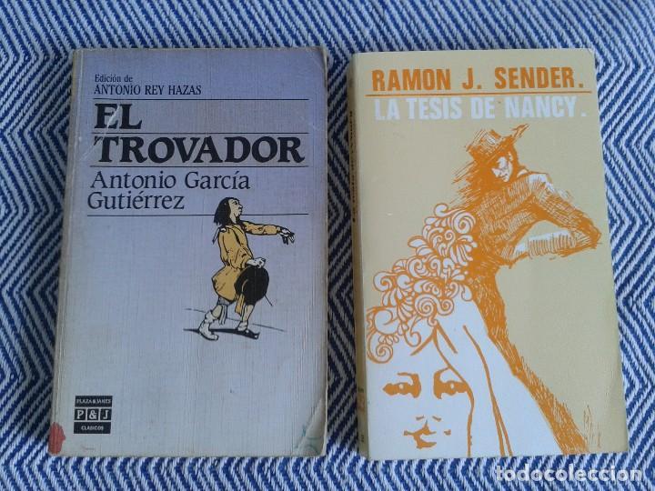 LOTE DE DOS LIBROS ,EL TROVADOR Y LA TESIS DE NANCY AÑOS 90 (Libros antiguos (hasta 1936), raros y curiosos - Literatura - Narrativa - Novela Romántica)