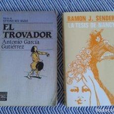 Libros antiguos: LOTE DE DOS LIBROS ,EL TROVADOR Y LA TESIS DE NANCY AÑOS 90. Lote 126817759