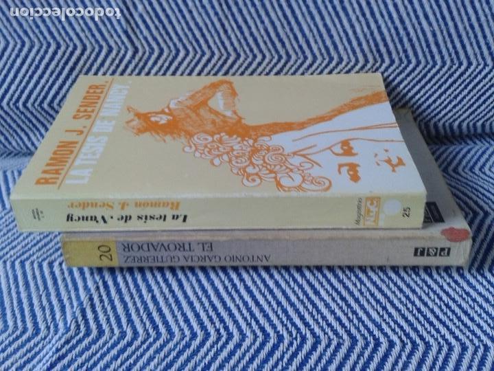 Libros antiguos: LOTE DE DOS LIBROS ,EL TROVADOR Y LA TESIS DE NANCY AÑOS 90 - Foto 2 - 126817759