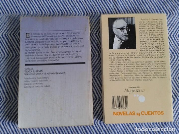 Libros antiguos: LOTE DE DOS LIBROS ,EL TROVADOR Y LA TESIS DE NANCY AÑOS 90 - Foto 3 - 126817759