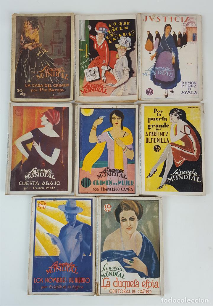 LA NOVELA MUNDIAL. 8 EJEMPLARES. VARIOS AUTORES. MADRID. 1926/1928. (Libros antiguos (hasta 1936), raros y curiosos - Literatura - Narrativa - Novela Romántica)