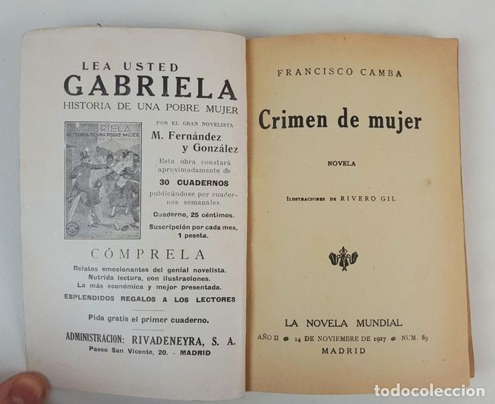 Libros antiguos: LA NOVELA MUNDIAL. 8 EJEMPLARES. VARIOS AUTORES. MADRID. 1926/1928. - Foto 11 - 128246787
