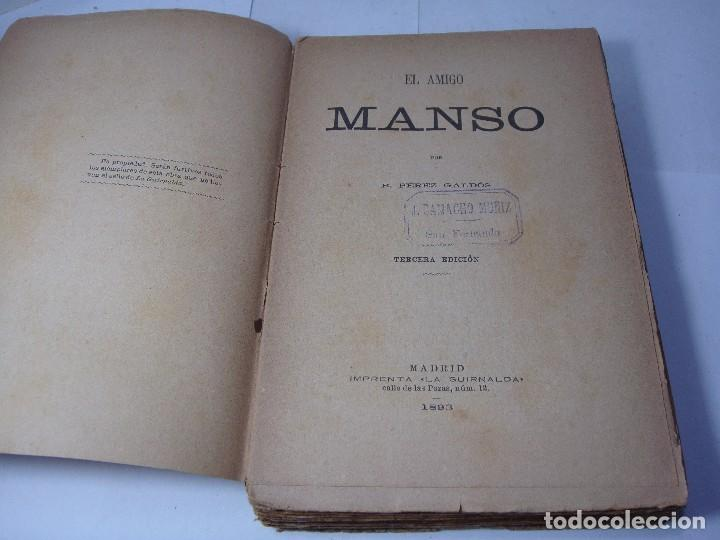 EL AMIGO MANSO - B. PÉREZ GALDÓS - 1893 (Libros antiguos (hasta 1936), raros y curiosos - Literatura - Narrativa - Novela Romántica)
