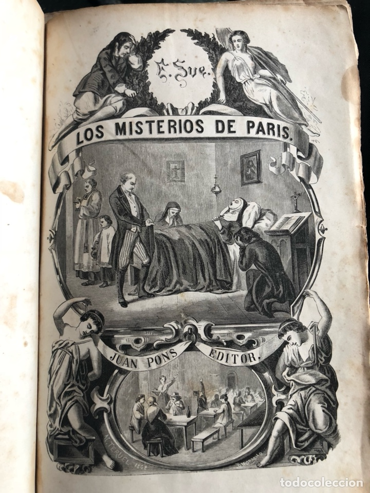 LOS MISTERIOS DE PARIS. TOMO 1. EUGENIO SUE.JUAN PONS, EDITOR. BARCELONA 1868 (Libros antiguos (hasta 1936), raros y curiosos - Literatura - Narrativa - Novela Romántica)