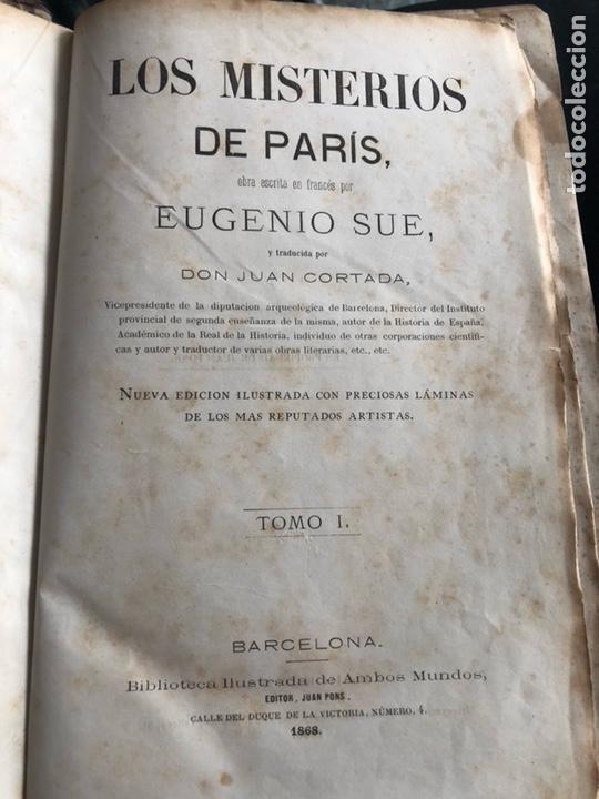 Libros antiguos: LOS MISTERIOS DE PARIS. TOMO 1. EUGENIO SUE.JUAN PONS, EDITOR. BARCELONA 1868 - Foto 2 - 133385270