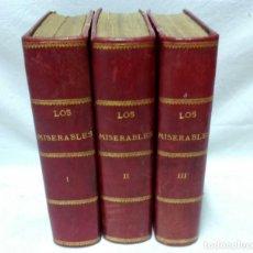 Libros antiguos: LOS MISERABLES, POR VICTOR HUGO. FELIPE GONZÁLEZ ROJAS, EDITOR. 1889 - 1893. 3 VOLS. COMPLETA.. Lote 133711006
