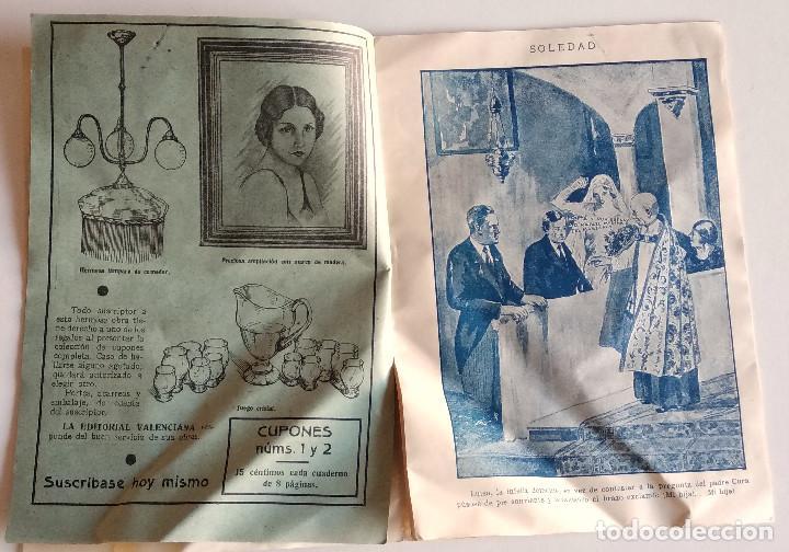 Libros antiguos: SOLEDAD - FERNANDO GONZÁLEZ - PRIMER NÚMERO DEL COLECCIONABLE - EDITORIAL VALENCIANA - Foto 3 - 135742626