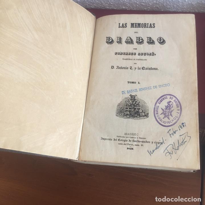 Libros antiguos: Las memorias del diablo, Federico Soulié. 1849 Tomos I y II - Foto 9 - 146732656