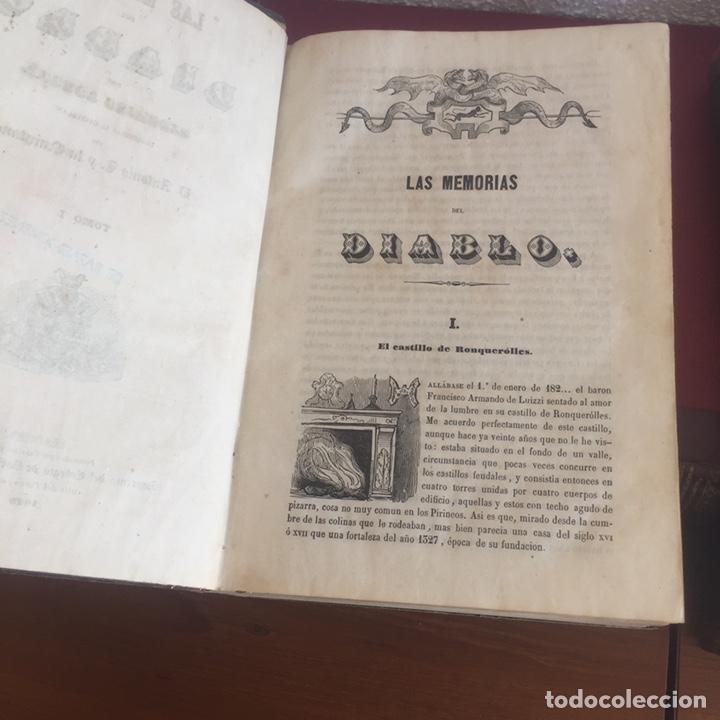 Libros antiguos: Las memorias del diablo, Federico Soulié. 1849 Tomos I y II - Foto 10 - 146732656