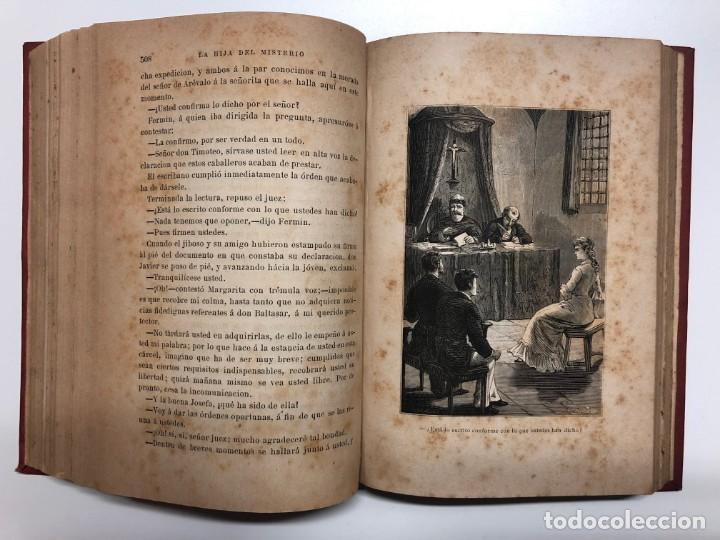 Libros antiguos: A. MENDOZA DE LASERNA. LA HIJA DEL MISTERIO. 1880 - Foto 4 - 148809366