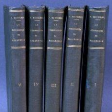 Livros antigos: AVENTURAS ROCAMBOLE RESURRECIÓN ROCAMBOLE PONSON DU TERRAIL IMP REY SIN FECHA 5 TOM EX LIBRIS WEYLER. Lote 152770030