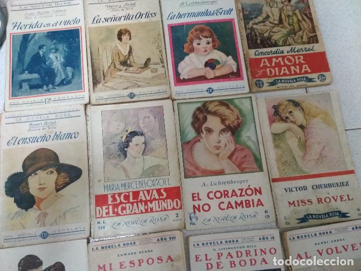 Libros antiguos: LOTE 17 EJEMPLARES. LA NOVELA ROSA. AÑOS 1920 /30 - Foto 2 - 153782734
