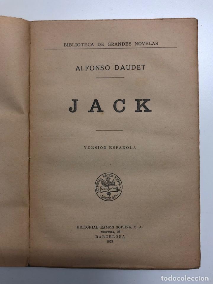 Libros antiguos: ALFONSO DAUDET. JACK. 1933 - Foto 2 - 155813670