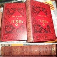 Livros antigos: DEL ALTAR A LA TUMBA ALVARO CARRILLO ILUSTRACIONES AL CROMO LEÓN COMELERAN ED. ALBERTO MARTIN 2 TOM. Lote 156768426
