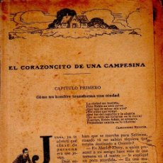 Libros antiguos: EL CORAZONCITO DE UNA CAMPESINA. BERTA RUCK. LA NOVELA ROSA. EDITORIAL JUVENTUD. 1927.. Lote 156986174