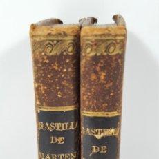 Libros antiguos: AMELIA Y TEÓFILO, EL CASTILLO DE MARTENAU. 2 TOMOS. IMP. BERGNES. BARCELONA. 1833.. Lote 159094038