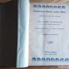Libros antiguos: 1934-1935-1936. 7 NOVELAS ENCUADERNADAS. ED. BLANCO Y NEGRO. Lote 160669914