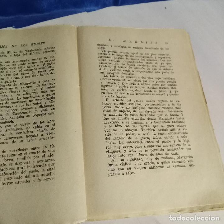 Libros antiguos: La Dama de los Rubíes, 1927 - Eugenia Marlitt - Ed. Banzá - La Novela Interesante - Muy raro - Foto 3 - 165783418