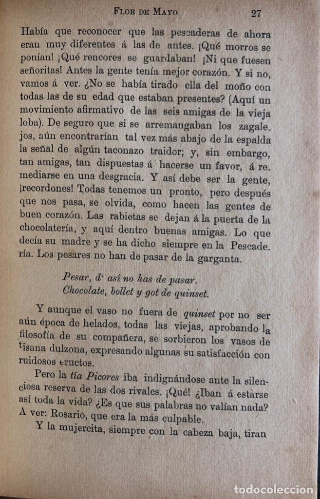 Libros antiguos: FLOR DE MAYO. VICENTE BLASCO IBAÑEZ. EDITOR F. SEMPERE. VALENCIA, 1895. - Foto 3 - 166296034