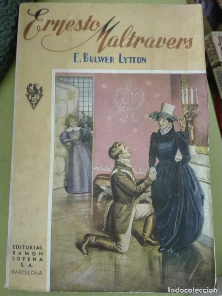 ERNESTO MALTRAVERS AUTORES BULWER-LYTTON EDITORIAL SOPENA (Libros antiguos (hasta 1936), raros y curiosos - Literatura - Narrativa - Novela Romántica)