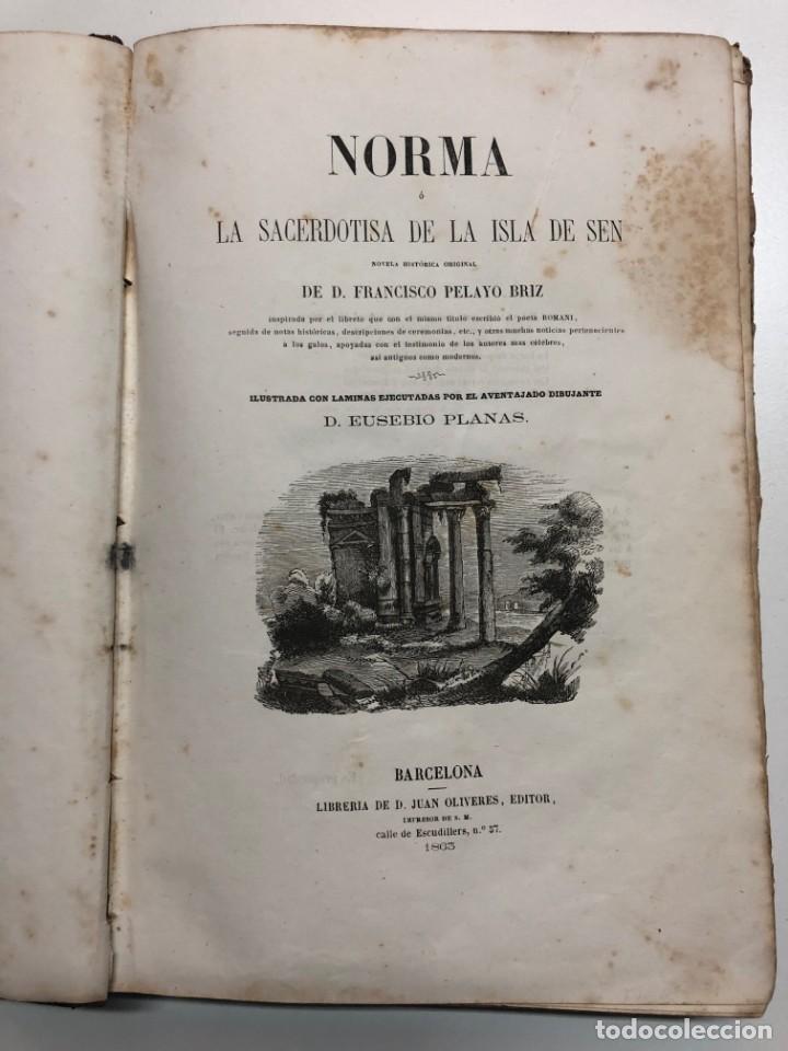 Libros antiguos: FRANCISCO PELAYO BRIZ. NORMA Ó LA SACERDOTISA DE LA ISLA DE SEN. 1863 - Foto 3 - 168710836