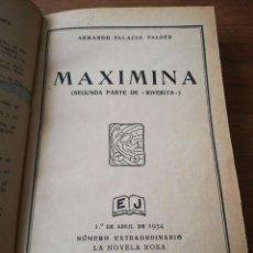 Libros antiguos: MAXIMINA. ARMANDO PALACIO VALDES. 1934.. Lote 168799508