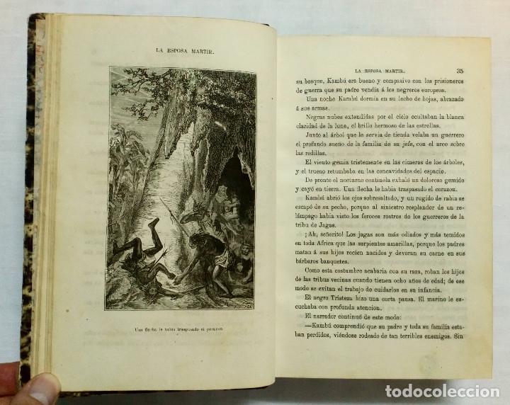 Libros antiguos: LA ESPOSA MÁRTIR. ENRIQUE PÉREZ ESCRICH. OBRA COMPLETA EN 2 TOMOS. AÑO 1873. - Foto 8 - 172366850
