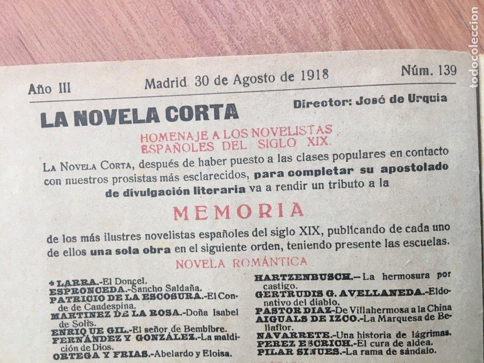 Libros antiguos: LA NOVELA CORTA. LA HORDA ( VICENTE BLASCO IBAÑEZ ) Nº 139 . AÑO 1918. ORIGINAL - Foto 3 - 174372738