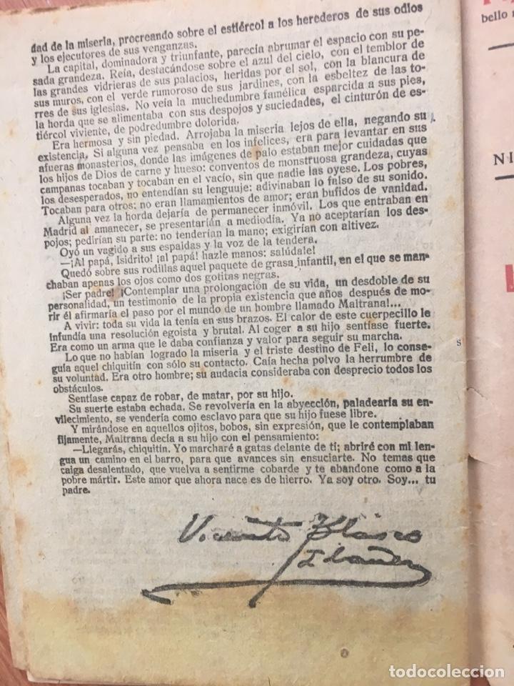 Libros antiguos: LA NOVELA CORTA. LA HORDA ( VICENTE BLASCO IBAÑEZ ) Nº 139 . AÑO 1918. ORIGINAL - Foto 5 - 174372738
