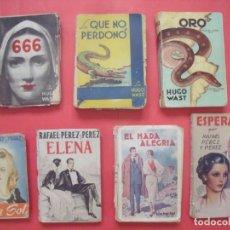 Libros antiguos: HUGO WAST.-RAFAEL PEREZ Y PEREZ.-NOVELAS.-LOTE DE 7 NOVELAS ANTIGUAS.. Lote 176914615
