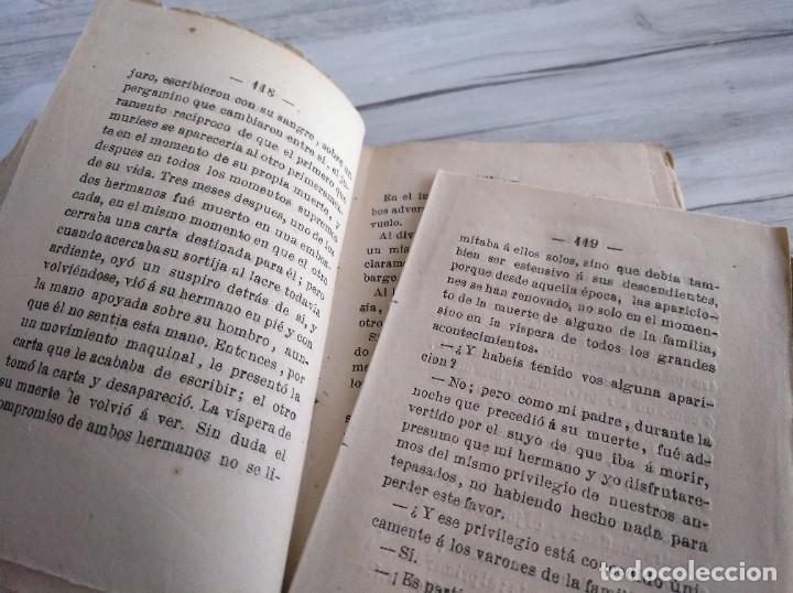 Libros antiguos: LOS HERMANOS CORSOS (1863) - ALEJANDRO DUMAS - Foto 5 - 179327882