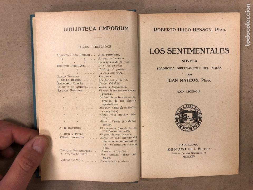 Libros antiguos: LOS SENTIMENTALES. ROBERTO HUGO BENSON, PBRO. GUSTAVO GILI EDITOR 1935. 271 PÁGINAS. TAPA DURA. - Foto 2 - 180256647