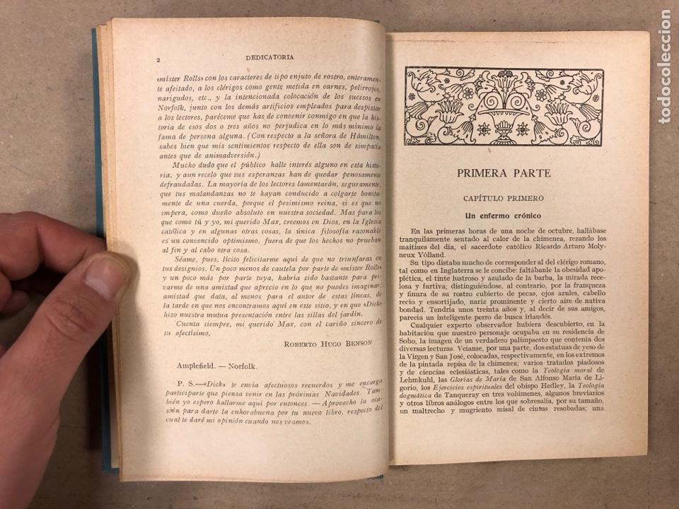 Libros antiguos: LOS SENTIMENTALES. ROBERTO HUGO BENSON, PBRO. GUSTAVO GILI EDITOR 1935. 271 PÁGINAS. TAPA DURA. - Foto 3 - 180256647