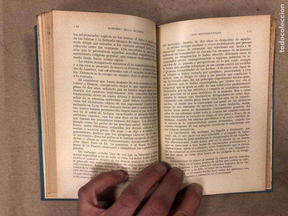 Libros antiguos: LOS SENTIMENTALES. ROBERTO HUGO BENSON, PBRO. GUSTAVO GILI EDITOR 1935. 271 PÁGINAS. TAPA DURA. - Foto 5 - 180256647