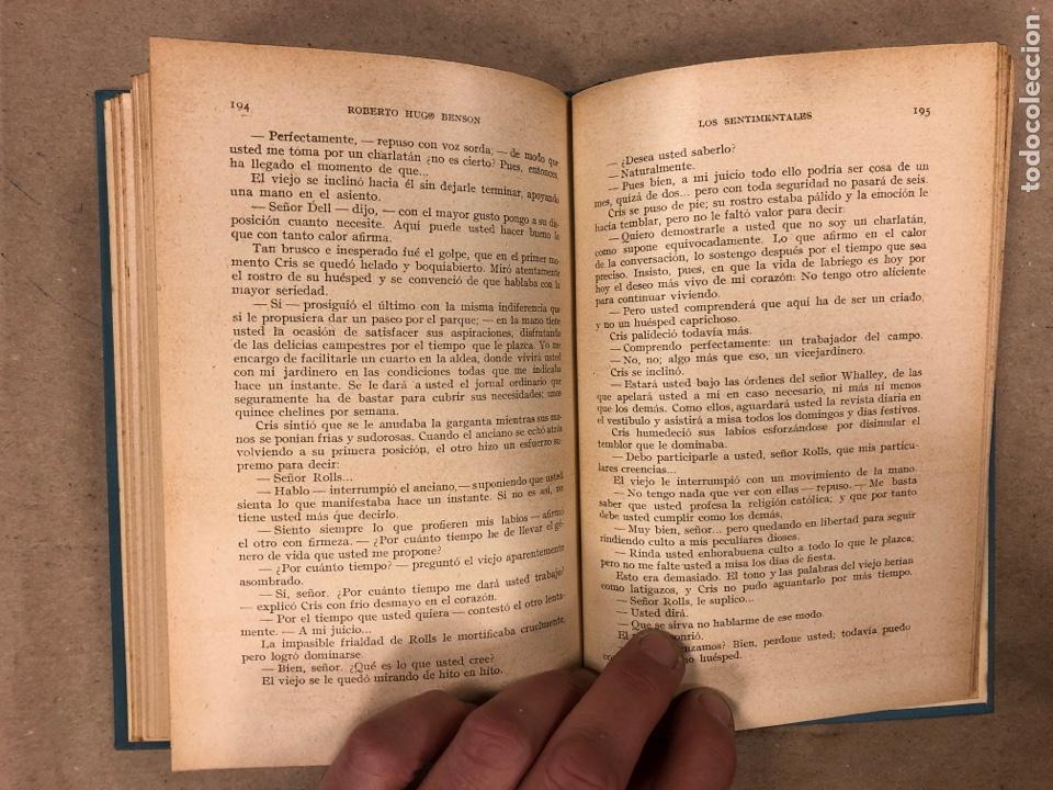 Libros antiguos: LOS SENTIMENTALES. ROBERTO HUGO BENSON, PBRO. GUSTAVO GILI EDITOR 1935. 271 PÁGINAS. TAPA DURA. - Foto 6 - 180256647