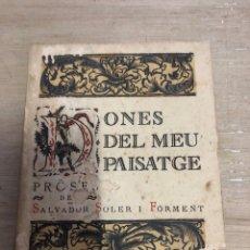 Libros antiguos: DONES DEL MEU PAISATGE. Lote 181028372