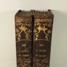 Libros antiguos: LOS AMANTES DE TERUEL. 2 TOMOS. M. FERNÁNDEZ. EDIT ESPASA HERMANOS. . Lote 182569297