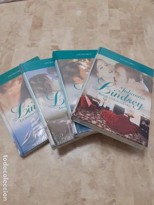 4 LIBROS JOHANNA LINDSEY SAGA LOS MALORY SIN ESTRENAR (Libros antiguos (hasta 1936), raros y curiosos - Literatura - Narrativa - Novela Romántica)
