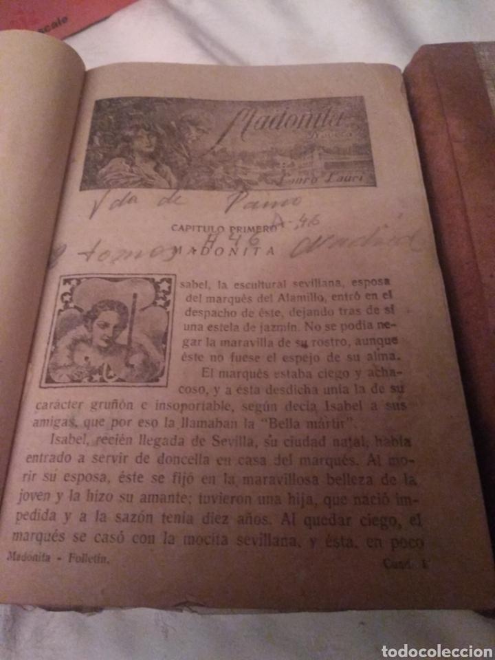 Libros antiguos: MADONITA (2 tomos gordos) FOLLETIN,NOVELA ROMANTICA . LAURO LAURI. PRINCIPIOS SIGLO XX (completa) - Foto 7 - 184805173